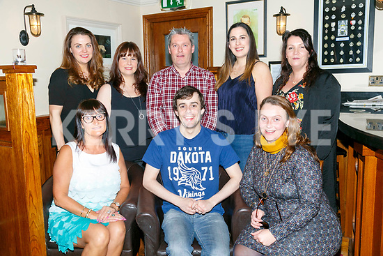 Enjoying the Tralee Musical Society Committee End of year dinner at Kerins O'Rahillys Club on Sunday were front l-r Aileen Riordan, Gary Murphy, Emma Quirke. Back l-r Jemma Hurley, Sharon Walsh, Des Hurley, Natalie Murphy and Ciara O'Connor
