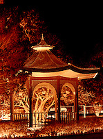 Red Gazebo, night