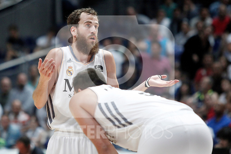 Real Madrid's Sergio Rodriguez during Liga Endesa ACB Semifinal match.June 6,2014. (ALTERPHOTOS/Acero)
