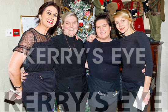Ann Kahraman (Ballyheigue), Sky, Olga and Emma Moriarty working hard behind the scenes in Cassidys during the festive season.