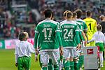 01.12.2018, Weser Stadion, Bremen, GER, 1.FBL, Werder Bremen vs FC Bayern Muenchen, <br /> <br /> DFL REGULATIONS PROHIBIT ANY USE OF PHOTOGRAPHS AS IMAGE SEQUENCES AND/OR QUASI-VIDEO.<br /> <br />  im Bild<br /> <br /> Einlauf der Mannschaften Rueckansiecht  <br /> Nuri Sahin (Werder Bremen #17)<br /> Theodor Gebre Selassie (Werder Bremen #23)<br /> Johannes Eggestein (Werder Bremen #24)<br /> Yuya Osako (Werder Bremen #08)<br /> Maximilian Eggestein (Werder Bremen #35)<br /> Ludwig Augustinsson (Werder Bremen #05)<br /> Milos Veljkovic (Werder Bremen #13)<br /> Davy Klaassen (Werder Bremen #30)<br /> Niklas Moisander (Werder Bremen #18)<br /> Jiri Pavlenka (Werder Bremen #01)<br /> <br /> Foto &copy; nordphoto / Kokenge