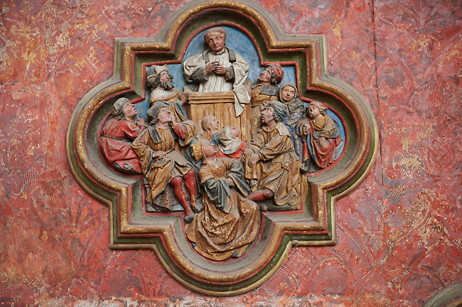 Gothic sculptures  from the  Cathedral of Notre-Dame, Amiens, France