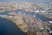 4415 / Steinwerder: EUROPA, DEUTSCHLAND, HAMBURG, (EUROPE, GERMANY), 16.11.2006:Steinwerder, Hafenerweiterung am Koehlbrand, Hamburger Hafen, Container Hafen, Liegeplaetze
