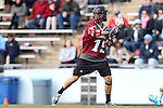14 February 2015: UMass's Andrew Sokol. The University of North Carolina Tar Heels hosted the University of Massachusetts Minutemen in a 2015 NCAA Division I Men's Lacrosse match. UNC won the game 20-8.