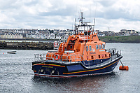 RNLB William Gordon Burr, AKA Portrush lifeboat, moored  Harbour, Portrush, Co Antrim, N Ireland, 17th June 2017, 201706173584<br />