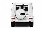 Straight rear view of 2018 Mercedes Benz G-Class G550 5 Door SUV Rear View  stock images