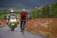 Thomas De Gendt (BEL/Lotto-Soudal) up the infamous La Redoute (1650m/9.7%) climb at 36 kilometers from the finish<br /> <br /> 102nd Li&egrave;ge-Bastogne-Li&egrave;ge 2016