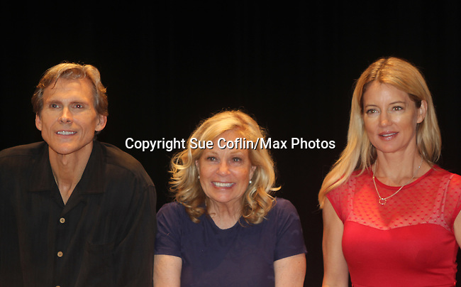 """Guiding Light's Cynthia Watros, Grant Aleksander and Tina Sloan star in """"Breathing Under Dirt"""" - full play - had its world premier on August 13 and 14, 2016 at the Ella Fitzgerald Performing Arts Center, University of Maryland Eastern Shore, Princess Anne, Maryland  (Photo by Sue Coflin/Max Photos)"""