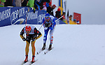 Lukas Hoffer during the FIS Ski World Cup Men' 15 Km Individual Classic, on February 1, 2014 in Dobbiaco, Toblach. <br /> <br /> &copy; Pierre Teyssot