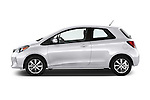 Car Driver side profile view of a 2015 Toyota Yaris LE 3-Door Liftback AT 3 Door Hatchback Side View
