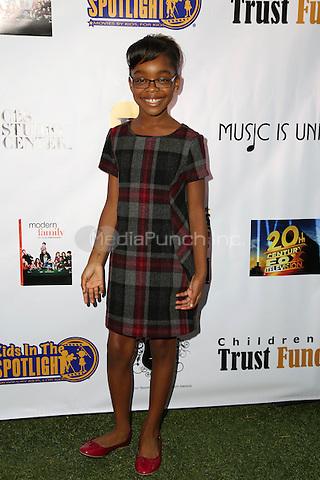 LOS ANGELES, CA - NOVEMBER 7: Marsai Martin at the Kids In The Spotlight's Movies By Kids, For Kids Film Awards at Fox Studios in Los Angeles, California on November 7, 2015. Credit: David Edwards/MediaPunch