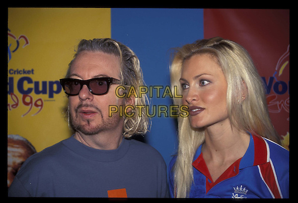 DAVE STEWART & CAPRICE.24 March 1999.Ref: 8319.headshot, portrait.*RAW SCAN- photo will be adjusted for publication*.www.capitalpictures.com.sales@capitalpictures.com.©Capital Pictures