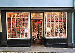 Historic buildings in Elm Hill, The Bear Shop, Norwich, Norfolk, England, UK