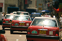There are three types of Taxis in Hong Kong, the Red Taxis that serve Kowloon and Hong Kong Island, Green Taxis that operate within the New Territories, and the Blue Taxis that operate on Lantau Island..
