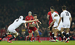 David Attwood of England tackles Rhys Webb of Wales - RBS 6Nations 2015 - Wales  vs England - Millennium Stadium - Cardiff - Wales - 6th February 2015 - Picture Simon Bellis/Sportimage
