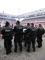 FUSSBALL   1. BUNDESLIGA  SAISON 2011/2012   34. Spieltag 1. FC Koeln - FC Bayern Muenchen        05.05.2012 Polizei im Muengersdorfer Stadion in Koeln