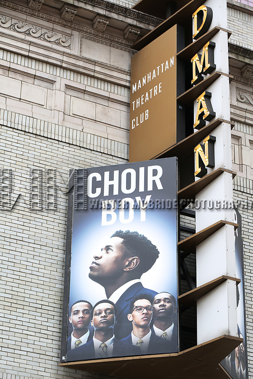 "Theatre Marquee unveiling for the Manhattan Theatre Club production of ""Choir Boy"" written by Tarell Alvin McCraney and directed by Trip Cullman at the Samuel J. Friedman Theatre on November 28, 2018 in New York City."