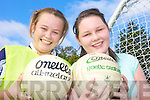 ON THE BALL: Megan Feeley and Emma Ryan taking part in the training with Jack O'Connor at Listowel Community College on Friday.