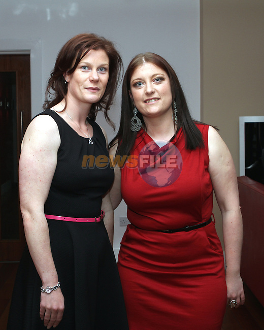 Jenny Parkinson celebrates her birthday in Bru. Pictured here with her sister Ciara...(Photo Jenny Matthews/www.newsfile.ie)