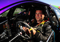 Jul. 17, 2010; Sonoma, CA, USA; NHRA pro stock driver Vinnie Deceglie during qualifying for the Fram Autolite Nationals at Infineon Raceway. Mandatory Credit: Mark J. Rebilas-