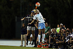 22 October 2015: North Carolina's Cameron Castleberry (21) and Notre Dame's Sandra Yu (16). The University of North Carolina Tar Heels hosted the Notre Dame University Fighting Irish at Fetzer Field in Chapel Hill, NC in a 2015 NCAA Division I Women's Soccer game. UNC won the game 2-1.