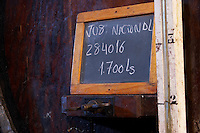 nacional sign on tank quinta do noval douro portugal