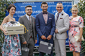 15th September 2017, Doncaster Racecourse, Doncaster, England; The William Hill St Ledger Festival, Gentleman's Day; The winners of the best dressed Gentleman