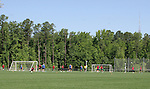 12 May 2006: A wide shot of the training session. The United States' Men's National Team trained at SAS Soccer Park in Cary, NC, in preparation for the 2006 FIFA World Cup tournament to be played in Germany from June 9 through July 9, 2006.
