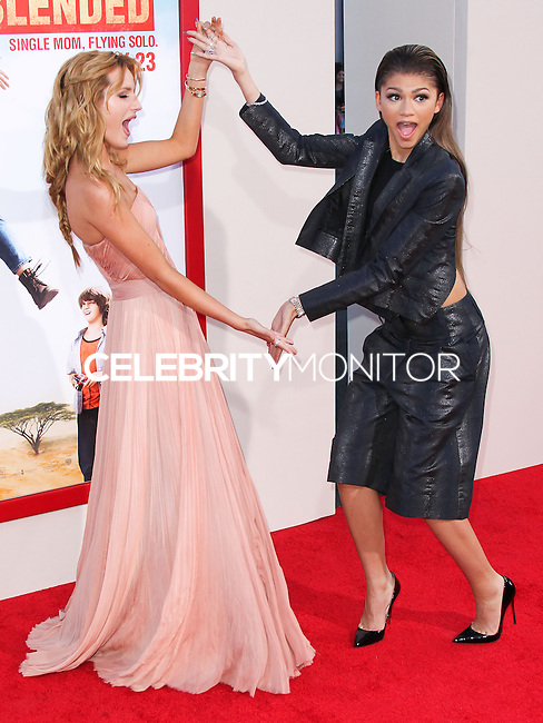 HOLLYWOOD, LOS ANGELES, CA, USA - MAY 21: Bella Thorne, Zendaya Coleman at the Los Angeles Premiere Of Warner Bros. Pictures' 'Blended' held at the TCL Chinese Theatre on May 21, 2014 in Hollywood, Los Angeles, California, United States. (Photo by Xavier Collin/Celebrity Monitor)