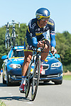 SITTARD, NETHERLANDS - AUGUST 16: Daniele Bennati of Italy riding for Saxo-Tinkoff competes during stage 5 of the Eneco Tour 2013, a 13km individual time trial from Sittard to Geleen, on August 16, 2013 in Sittard, Netherlands. (Photo by Dirk Markgraf/www.265-images.com)
