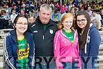 Aine Murphy (Castleisland) Martin Murphy (Castleisland) Caoimhe Carroll (Ballymac) and Sinead Murphy (Castleisland), cheering on Kerry at the football championship semi-final Kerry v Clare, held at Fitzgerald Stadium, Killarney on Sunday.