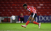 Lincoln City U18's Timothy Akinola<br /> <br /> Photographer Chris Vaughan/CameraSport<br /> <br /> The FA Youth Cup Second Round - Lincoln City U18 v South Shields U18 - Tuesday 13th November 2018 - Sincil Bank - Lincoln<br />  <br /> World Copyright © 2018 CameraSport. All rights reserved. 43 Linden Ave. Countesthorpe. Leicester. England. LE8 5PG - Tel: +44 (0) 116 277 4147 - admin@camerasport.com - www.camerasport.com