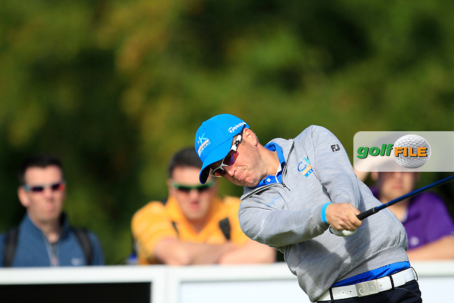 Matt Ford (ENG) on the 1st tee during Round 4 of the Northern Ireland Open Challenge in Galgorm Golf Club on Sunday 31st August 2014.<br /> Picture:  Thos Caffrey / www.golffile.ie