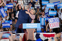 Al Gore hugs Hillary Clinton at Miami Rally, October 11, 2016