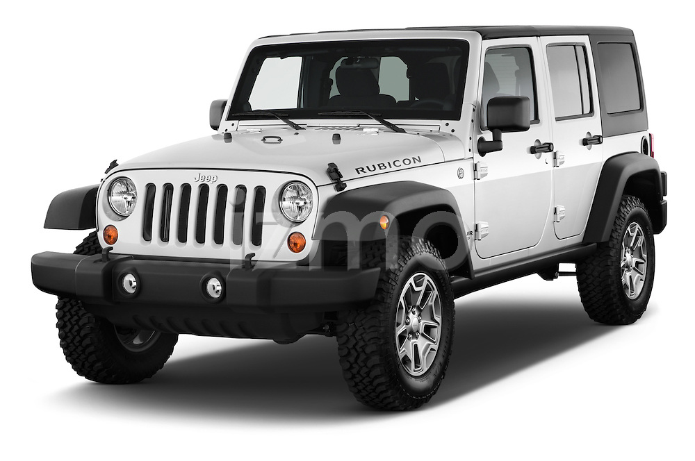 Front three quarter view of a 2013 Jeep Wrangler Unlimited Rubicon
