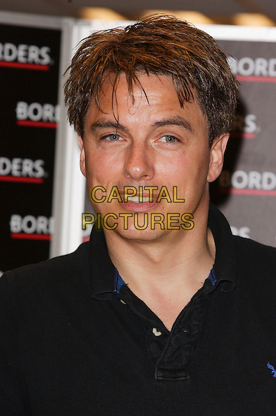 "JOHN BARROWMAN.currently on TV in ""Any Dream Will Do"" as a celebrity judge - at signing of a new Audio CD of the popular TV Series ""Torchwood"" (in which he stars as Captain Jack Harkness) at Borders, Oxford Street, London, England, April 28th 2007.portrait headshot black t-shirt .CAP/ROS.©Steve Ross/Capital Pictures"
