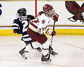 Sarah Campbell (UNH - 26), Laura Hart (BC - 27) - The Boston College Eagles and the visiting University of New Hampshire Wildcats played to a scoreless tie in BC's senior game on Saturday, February 19, 2011, at Conte Forum in Chestnut Hill, Massachusetts.