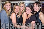 Staff of Katrinas Hairdressers enjoying their Christmas  party at Pomo Doro, Tralee, on Saturday Night..From Left: Elaine O'Connor, Liz McCarthy, Katrina McCarthy, Sandra Walsh, Clio?na Ni? Ri?abhaigh..   Copyright Kerry's Eye 2008