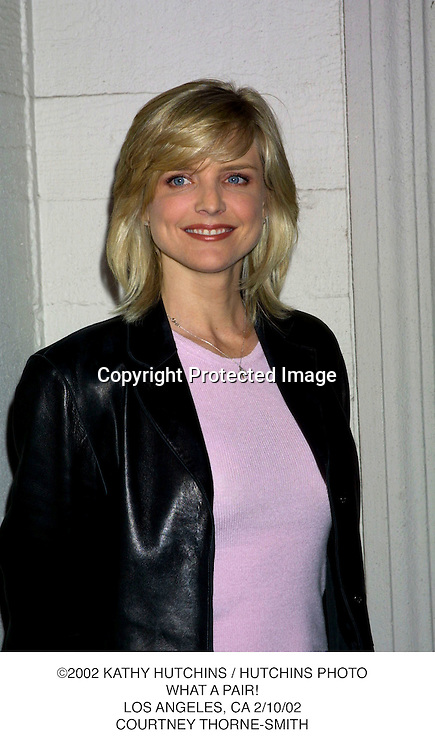 ©2002 KATHY HUTCHINS / HUTCHINS PHOTO.WHAT A PAIR!.LOS ANGELES, CA 2/10/02.COURTNEY THORNE-SMITH