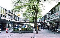 Rotterdam: Lijnbaan Pedestrian Zone. 1952-54. Jacolb B. Bakema & Johannes H. Van der Broek. Photo '87.