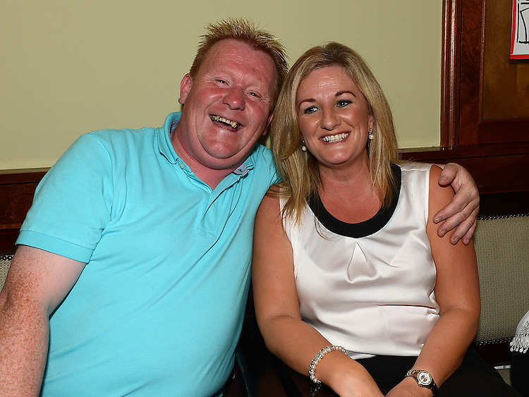 Sean Grogan and Ann O'Neill at Seapoint Golf Captains prizegiving in Tommy Hannratty's Bar & Lounge. Photo:Colin Bell/pressphotos.ie
