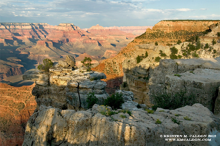 A hot afternoon in August<br /> at Mather Point.<br /> This is the very first view that most visitors to the Grand Canyon see.