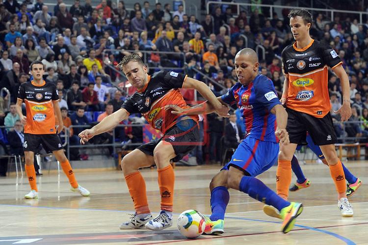 League LNFS 2016/2017 - Game 6.<br /> FC Barcelona Lassa vs Aspil Vidal Ribera Navarra: 7-1.<br /> Kostas vs Ferrao.