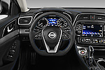 Car pictures of steering wheel view of a 2017 Nissan Maxima S 4 Door Sedan Steering Wheel