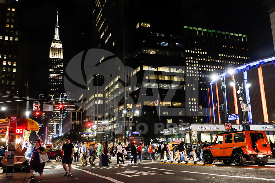 NOVA YORK, EUA, 05.10.2018 - TURISMO-EUA - Vista do Empire State Building em Nova York nos Estados Unidos na noite desta sexta-feira, 05. (Foto: William Volcov/Brazil Photo Press)