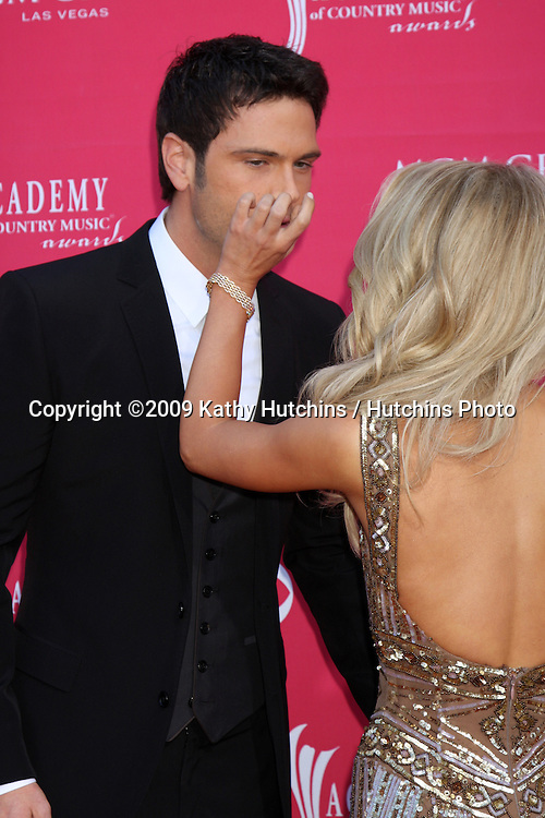 Chuck Wicks & Julianne Hough arriving at the 44th Academy of Country Music Awards at the MGM Grand Arena in  Las Vegas, NV on April 5, 2009.©2009 Kathy Hutchins / Hutchins Photo....                .