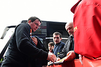 Blackpool manager Gary Bowyer signs an autograph after arriving at the ground<br /> <br /> Photographer Chris Vaughan/CameraSport<br /> <br /> The EFL Sky Bet League Two - Doncaster Rovers v Blackpool - Keepmoat Stadium - Doncaster<br /> <br /> World Copyright &copy; 2017 CameraSport. All rights reserved. 43 Linden Ave. Countesthorpe. Leicester. England. LE8 5PG - Tel: +44 (0) 116 277 4147 - admin@camerasport.com - www.camerasport.com