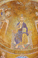 Byzantine Mosaics of Christ Pantocrator above the side chapel  of the Cathedral of Santa Maria Assunta (Cattedrale di Santa Maria Assunta) is a basilica church on the island of Torcello, Venice, northern Italy. It is a notable example of Venetian-Byzantine architecture, one of the most ancient religious edifices in the Veneto.