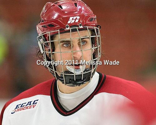 Rence Coassin (Harvard - 17) - The Harvard University Crimson and Quinnipiac University Bobcats played to a 2-2 tie on Saturday, November 5, 2011, at Bright Hockey Center in Cambridge, Massachusetts.