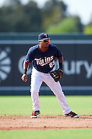 Minnesota Twins second baseman Luis Arraez (89) during an Instructional League game against the Boston Red Sox on September 24, 2016 at CenturyLink Sports Complex in Fort Myers, Florida.  (Mike Janes/Four Seam Images)